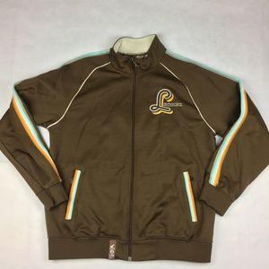 Mens Large LRG Jacket brown 7 gold